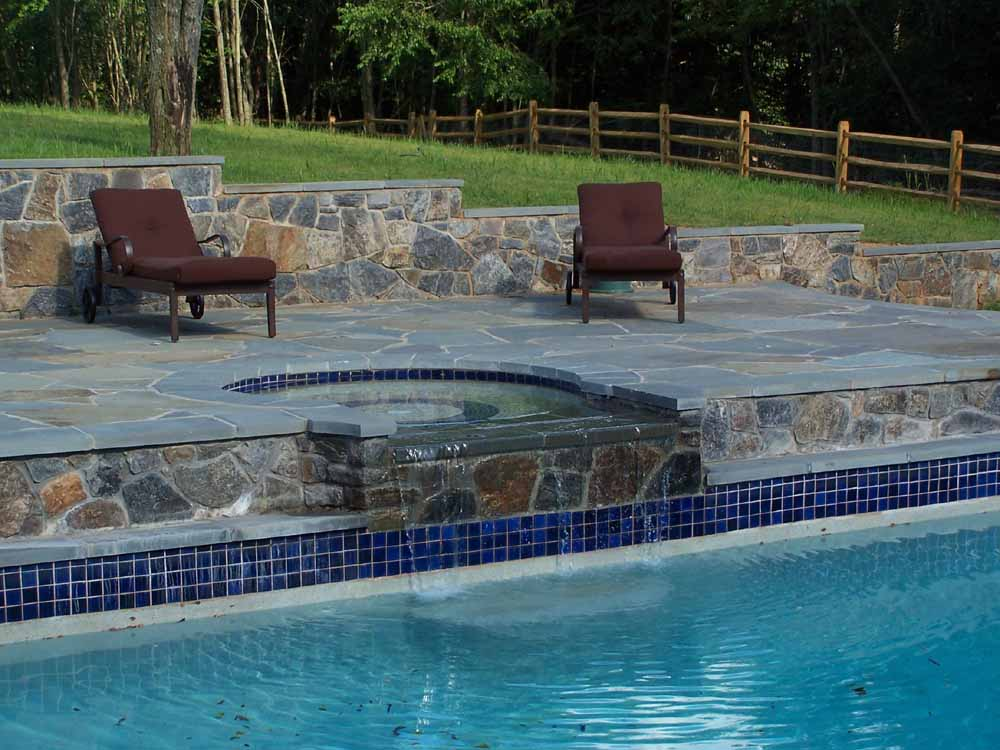 Completed Pool and Fountain