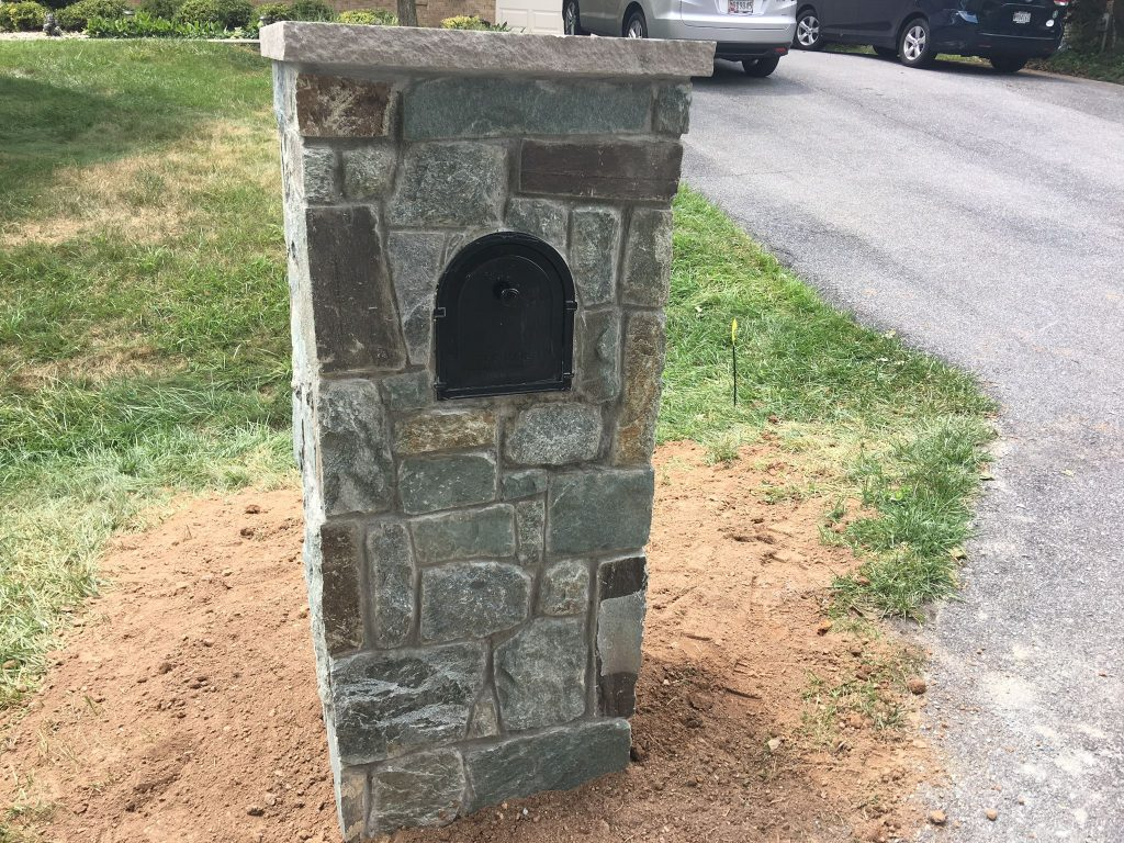 Stone Mailbox by Professional Stonework
